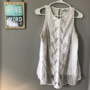 Old Navy lace tank top